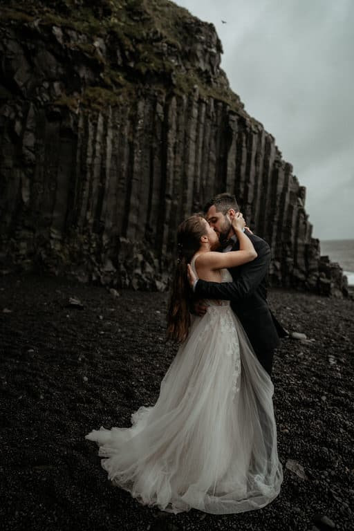 wedding at black sand beach